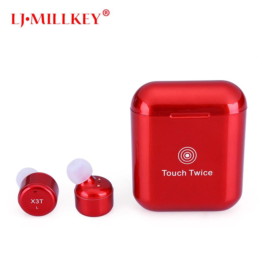 Upgrade True Wireless Earbuds TWS Mini Bluetooth In ear Earphone 600mAH Charge Box for Android IOS LJ-MILLKEY YZ138