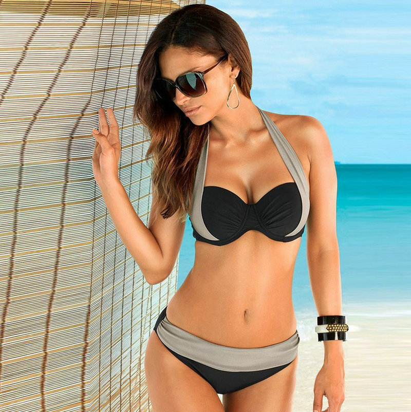 17 New Sexy Bikinis Women Swimsuit high waist brazilian bikini push up Bathing Swim Suit Bikini Set Plus Size Swimwear XXXL 2