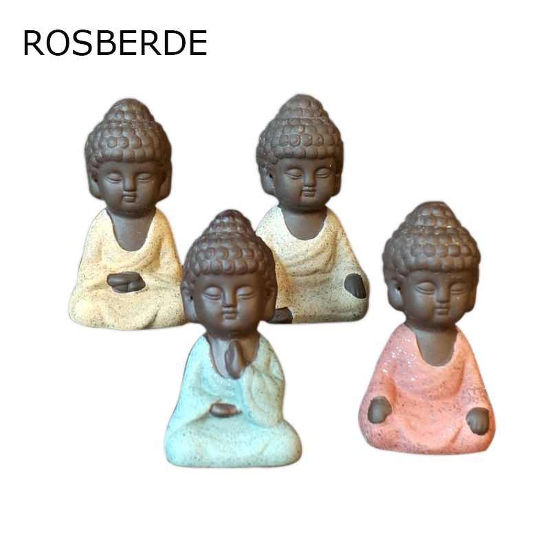Ceramic mini Buddha statue Monk Figurine Home decor Family garden flowerpot home decoration Small ornaments