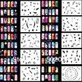 Freeshipping Новое Прибытие Дизайн Аэрограф Ногтей Краска Трафарет Комплект Дизайн Комплект MJ-002