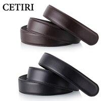 No Buckle 3 5cm Wide Real Genuine Leather Automatic Belts Body Strap Designer Belts Men High