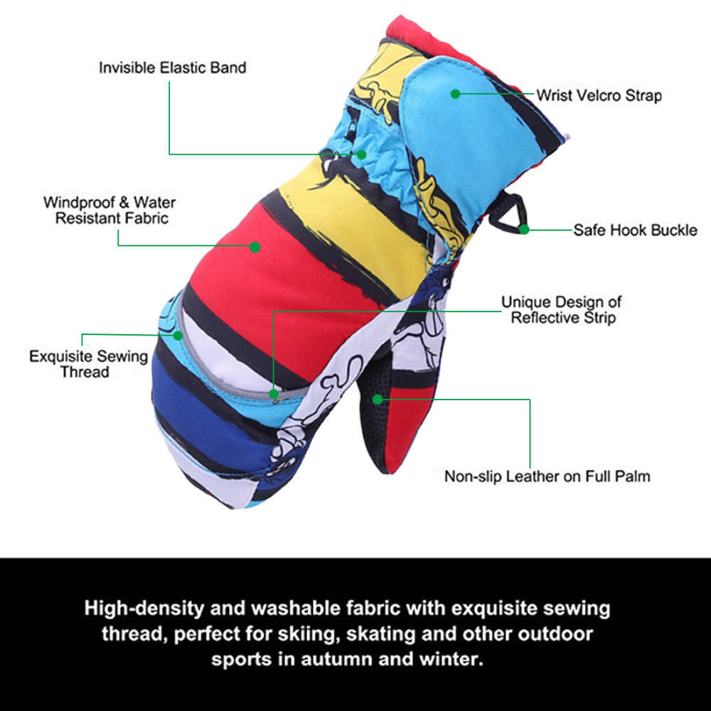 DEDC 6 Pairs Elastic Mitten Clips Strong Stainless Steel Glove and Mitten Clips for Kids Baby Adults