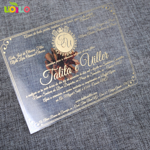 Image 1 - 30pcs print custom acrylic wedding invitation card