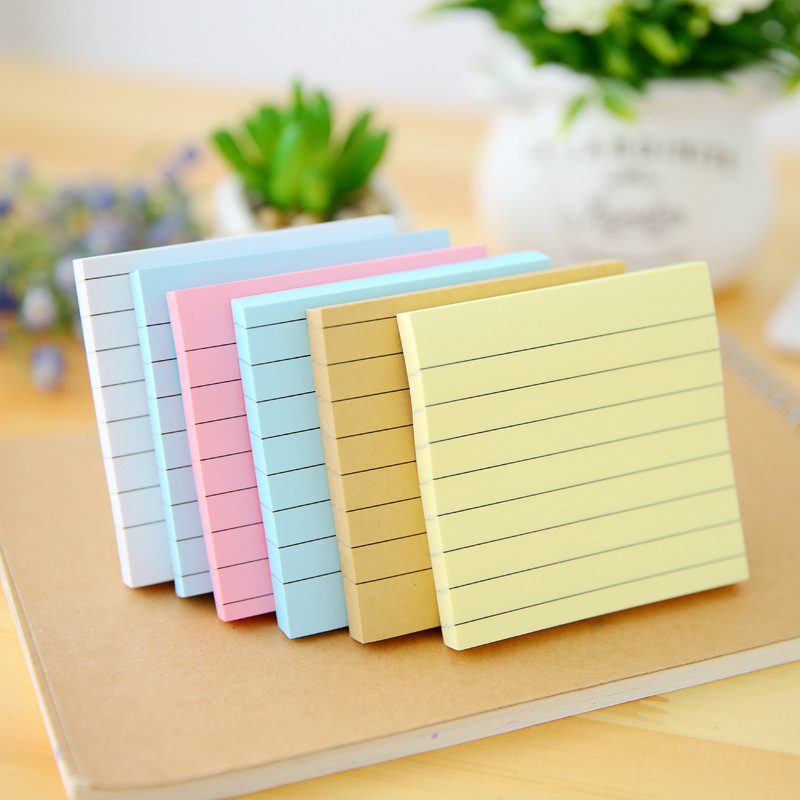 70 pages/pack Simple Stripe Memo Pad Sticky Notes Memo Notebook Office School Supplies School Supplies gift for boys and girls