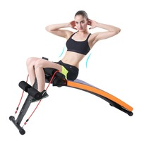Home Sit Up Bench Adjustment Abdominal Ab Bench Crunch Gym Training Muscles Weight Curved Board Abdominal Exerciser Equipments