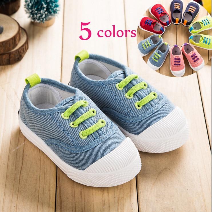 La moda de nueva escuela niñas niños zapatos de lona alpargatas Planos cómodos suaves Estupendos zapatos
