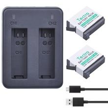 Tectra 2 PCS Go Pro Hero4 AHDBT-401 Bateria Li-ion + USB bateria Carregador duplo para GOPRO Hero4 Ação Esporte Câmera GoPro4 AHDBT401