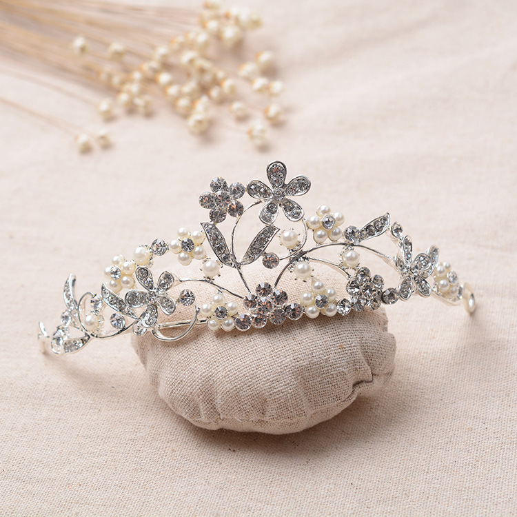Wedding Hairstyles With Jewels: Elegant Wedding Tiara Crown Rhinestones Hairwear Bridal