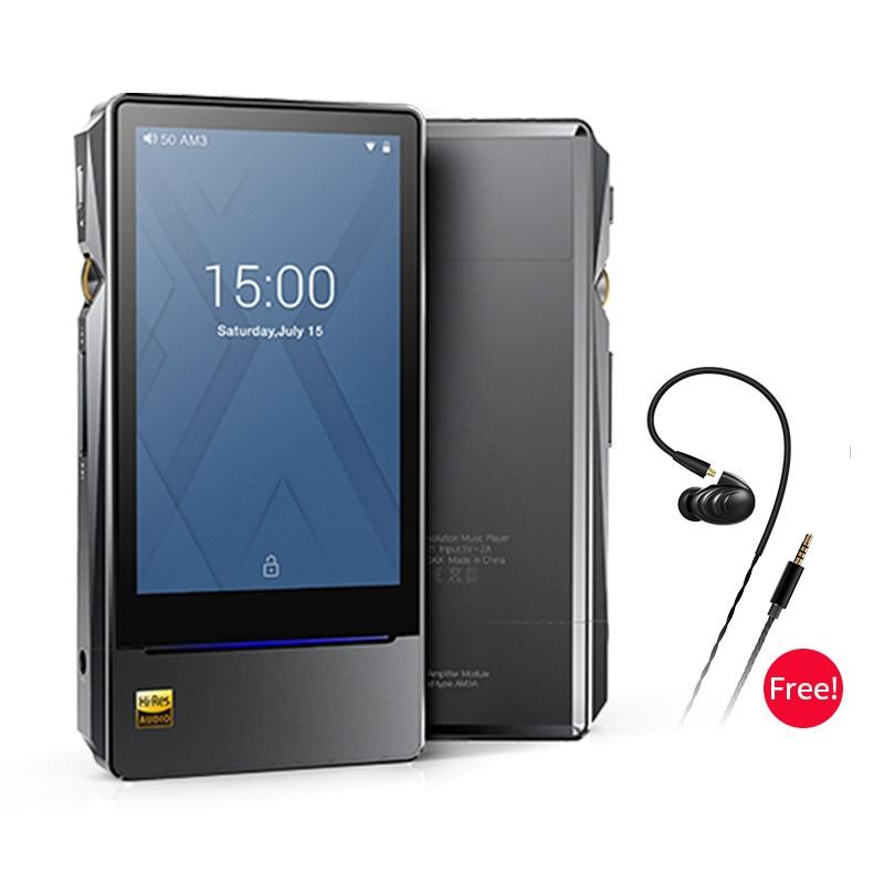 FiiO X7II com Balacned Módulo DSD AM3A Android-baseado em WI-FI Bluetooth 4.1 APTX Lossless Leitor de Música Portátil, fiiO MP3 X7II