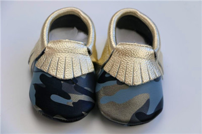 100% genuine leather baby moccasins baby boy camouflage mixed color kid soft sole first walker free shipping