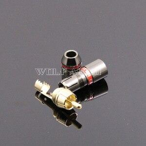 Image 3 - 4 יחידות מפלצת CRBLE 24 K מצופה זהב RCA Plug/אודיו מחבר/תקע לוטוס/AV מסוף וידאו