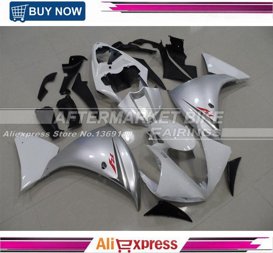 100% Fácil instalación de inyección carenado cuerpo para Yamaha 2009-2011 R1 ABS moto, carenados de YZF R1 09 2010 11 carrocería Kit