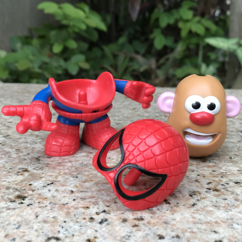 Super Hero Mr Potato Head Spider man Iron Man America Captain DIY Assembly Action Toy Figures Collectible Doll Gift XD27 in Action Toy Figures from Toys Hobbies