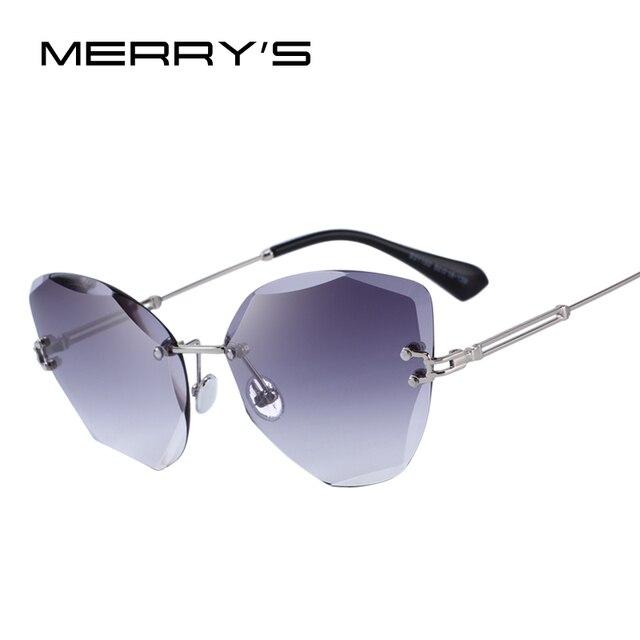Merrys дизайн Для женщин без оправы Солнцезащитные очки с градиентом UV400 защиты S6078