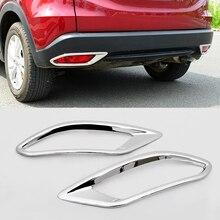 цена на For Honda Vezel HR-V HRV 2014-2018 ABS Chrome Car rear fog lampshade Cover Trim Bumper Molding Garnish Styling accessories 2pcs