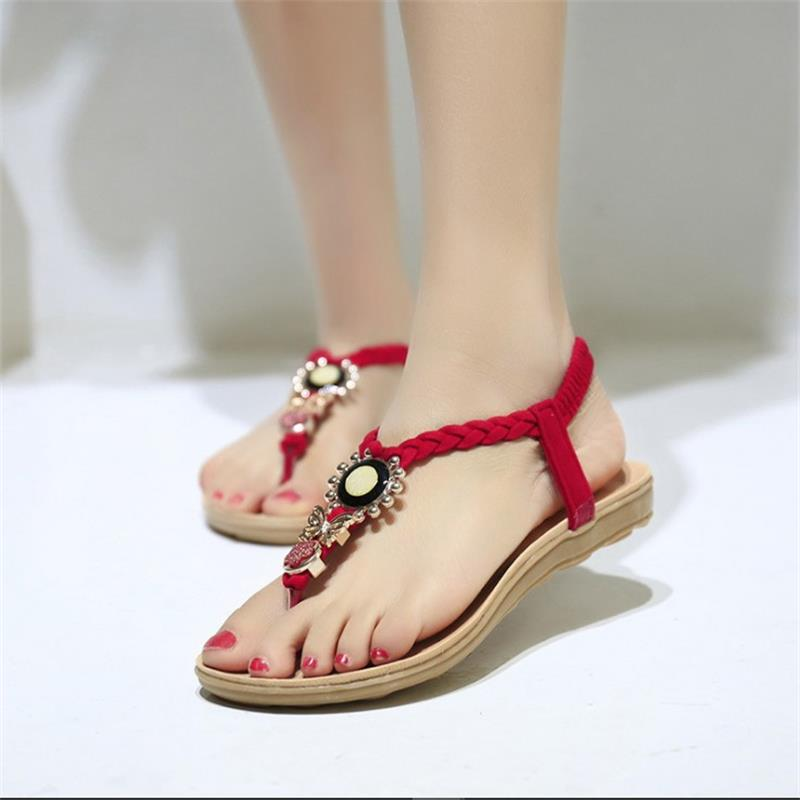 Summer Women Sandals Shoes Casual Fashion Women Flat With Flip Flops Sandals Beach Leisure Female Outdoor Ladies Footwear HBT573 hot fashion summer women shoes women s metal c flat sandals female summer slippers flip flops ladies beach sandals femme chinelo