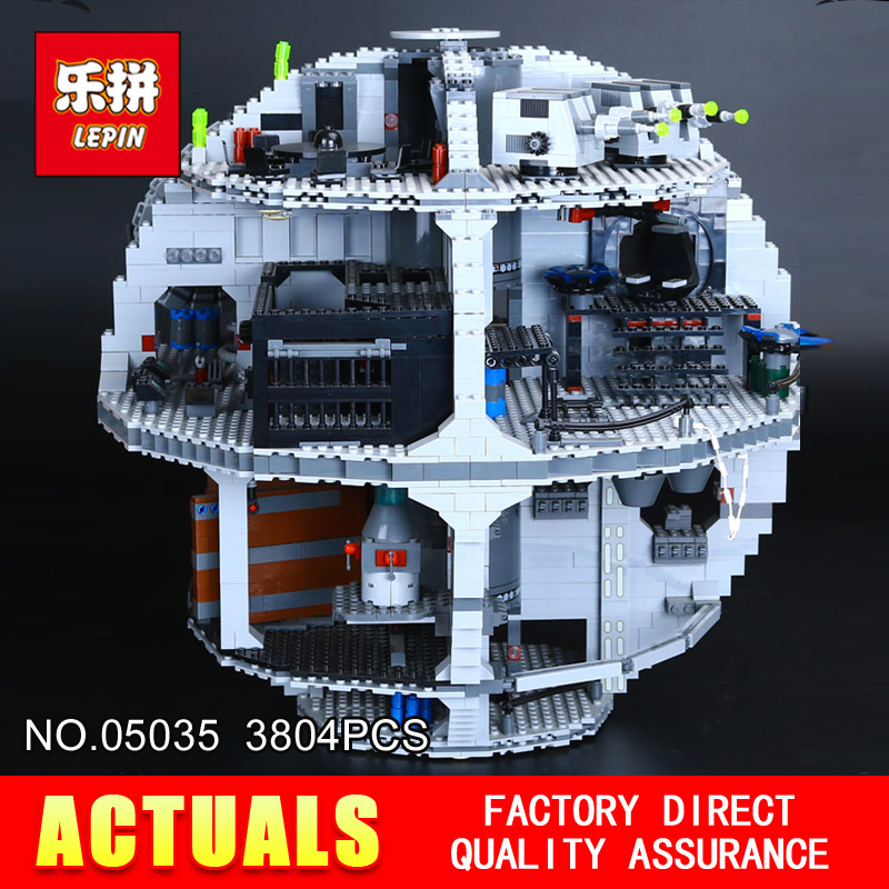 LEPIN 05035 Star Classic Model Wars Death 3804pcs Star Building Block Bricks Toys Kits Compatible with 10188 to Holiday gifts lepin 22001 pirate ship imperial warships model building block briks toys gift 1717pcs compatible legoed 10210