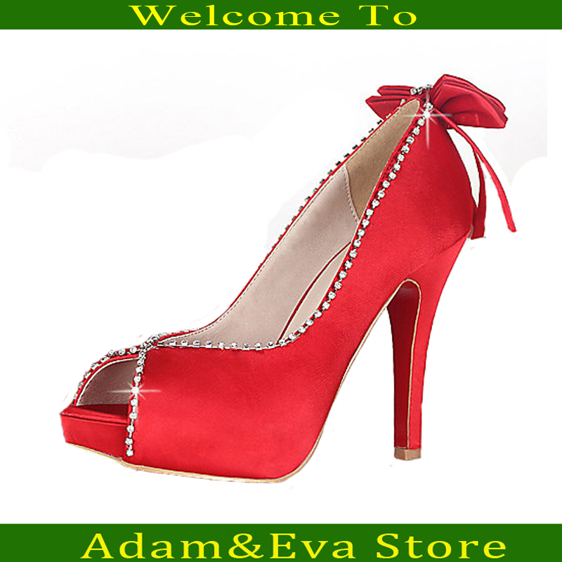 The new women red high heel platform shoes fish mouth for Platform shoes with fish