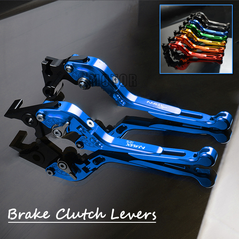 For YAMAHA NMAX125 2015 2016 2017 Motorcycle CNC Aluminum Foldable Brake Clutch Levers Adjustable Folding Extendable NMAX 125 cnc adjustable motorcycle billet foldable pivot extendable clutch page 1
