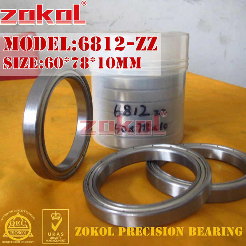 ZOKOL 6812 Z bearing 6812 ZZ 2RS 6812RS 6812Z Deep Groove ball bearing 60*78*10mm