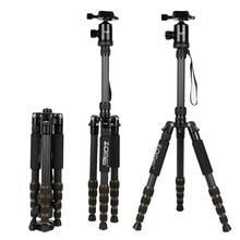 ZOMEI Z699C Profesjonalny Przenośny Podróży aparat Statyw z włókna Węglowego Monopod + głowica kulowa dla Digital SLR DSLR Camera