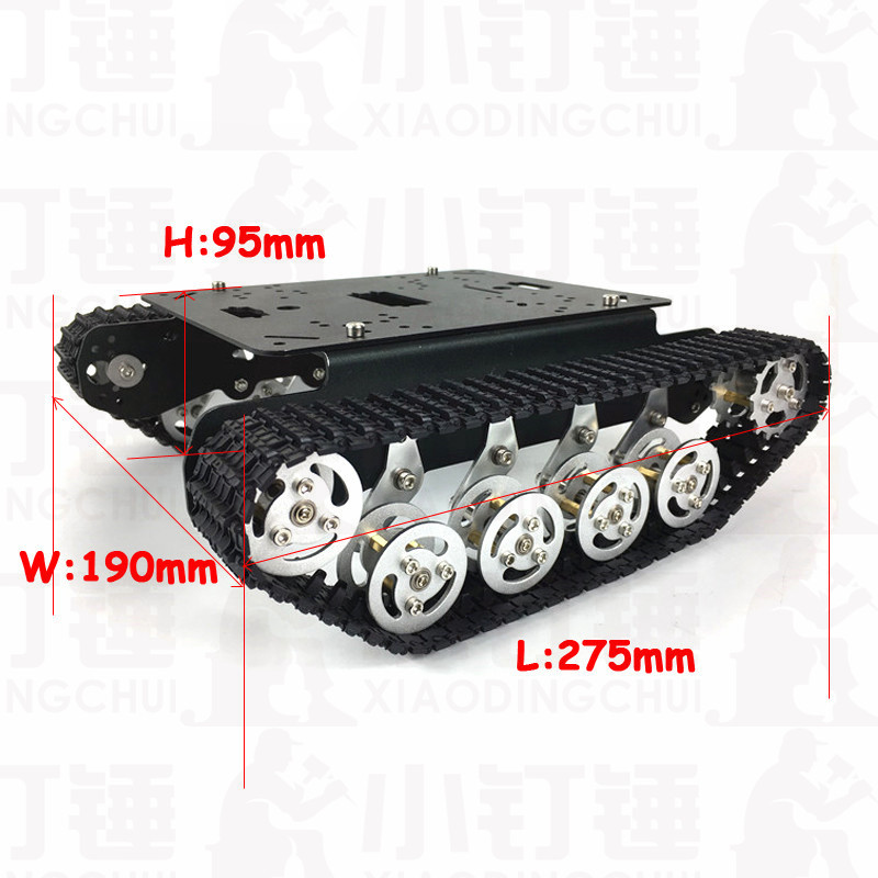 Aluminum Alloy Crawler Metal Tank Chassis Robot Intelligent Car Suspension Obstacle Avoidance Tank Chassis