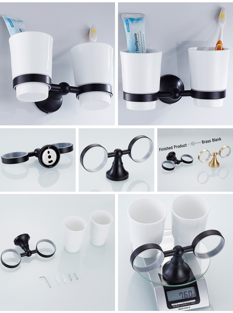 toothpaster cup holder black 3