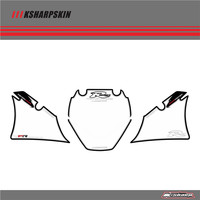 Front Fairing Motor Number Board 3D Gel Protector for YAMAHA R6 1999 2000