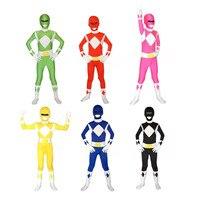 Super Sentai Kyoryu Sentai Zyuranger Rangers Kids Costumes Red Black Blue Pink Yellow Green Children Cosplay