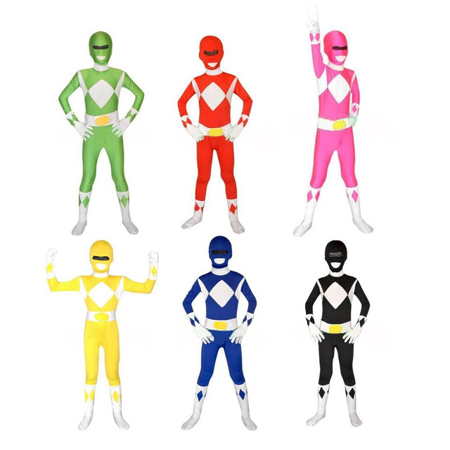 US $39 85 |Super Sentai Kyoryu Sentai Zyuranger Rangers Kids Costumes  Red/Black/Blue/Pink/Yellow/Green Children Cosplay Suit-in Movie & TV  costumes
