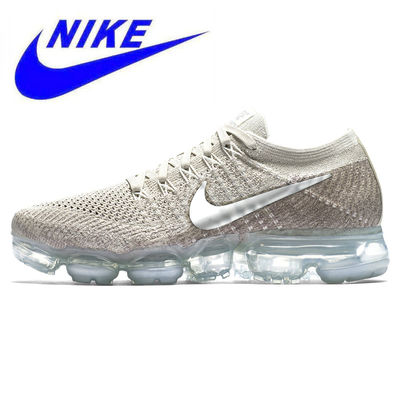 timeless design 22678 96e8f D origine Nike Air Vapormax Flyknit chaussures de course de Femmes, Sport  baskets d extérieur Chaussures, Gris, Non Slip, respirant 849557 202 dans  ...