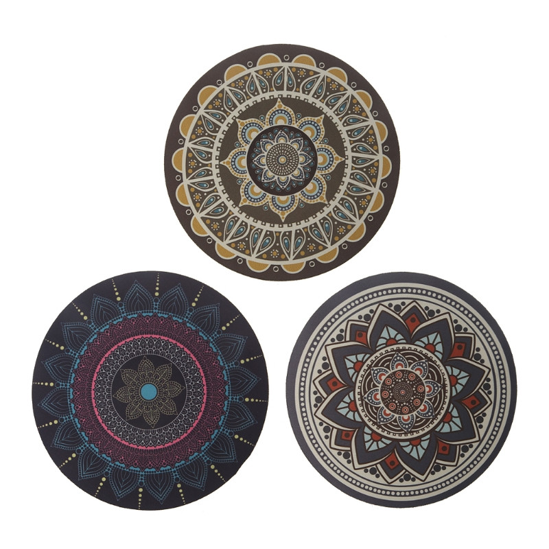 2018 New Vintage Bohemian Round Computer 3D Carpet Mouse Pad Mat Mousepad Anti Slip for Home Office PC Gaming Mousepad