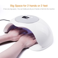 72W Smart Sensor Ice Lamp Nail Dryer UV LED Gel Light Lamp Nail Art Manicure Machine Dryer 10S/30S/60S/99 Timer For 2 Hand/Feet