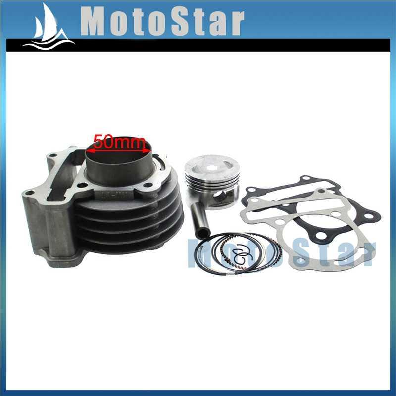 50mm cylindre 100cc grand alésage Kit pour 139QMB GY6 50cc 80cc cyclomoteur Scooter ATV Quad 4 roues
