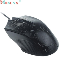 Mosunx Top Quality Factory Price New Design Colorful Backlight 1600DPI Optical Wired Gaming Mouse Mice MAY 20