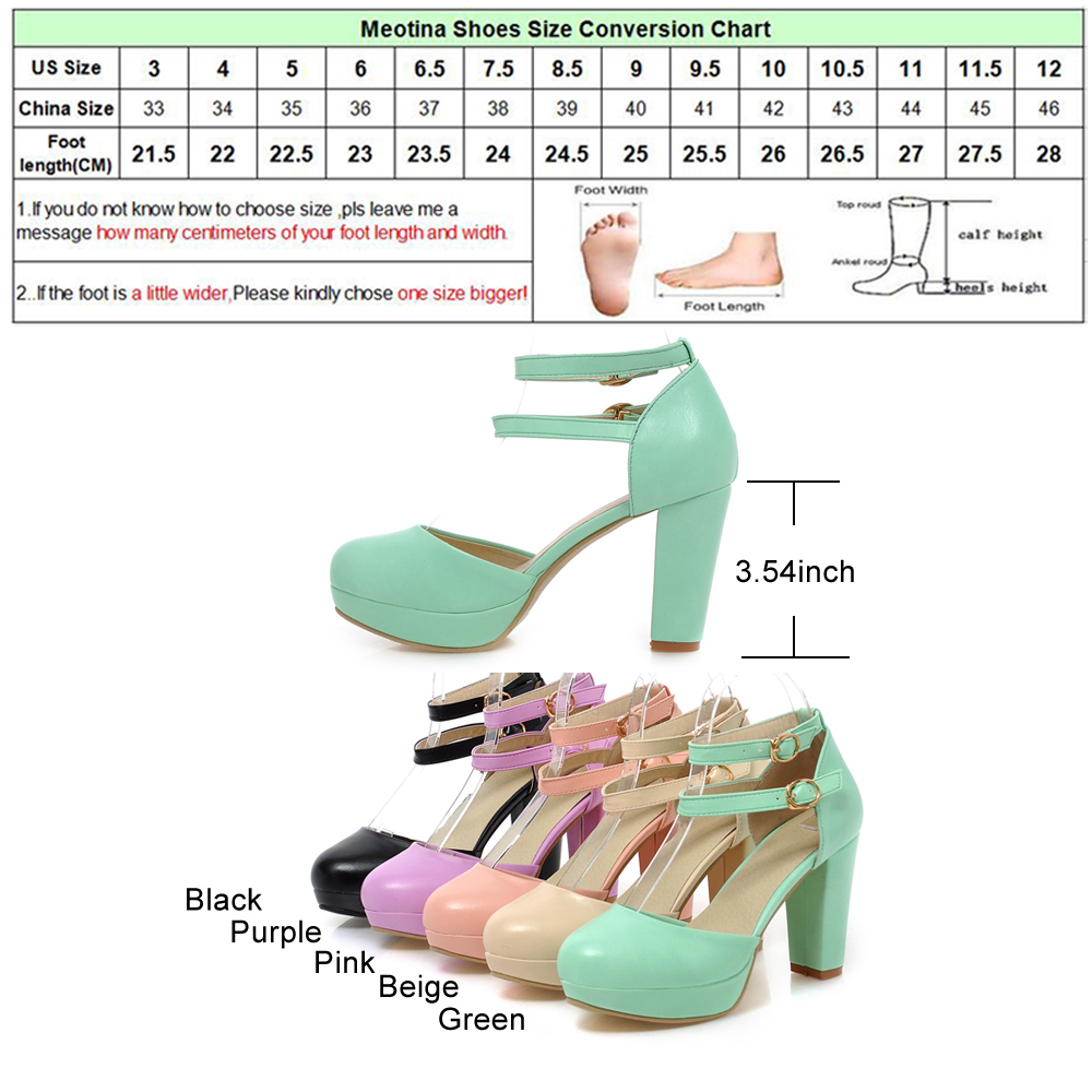 Meotina rome shoes women pumps ladies shoes round toe two piece meotina rome shoes women pumps ladies shoes round toe two piece chunky high heels gladiator shoes solid purple green size 34 43 in womens pumps from shoes geenschuldenfo Choice Image