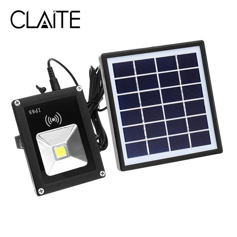 CLAITE 5W Waterproof LED COB Solar Light Radar Motion Sensor Flood Light for Outdoor DC3.7V термоноски guahoo outdoor light 52 0933 cw bk