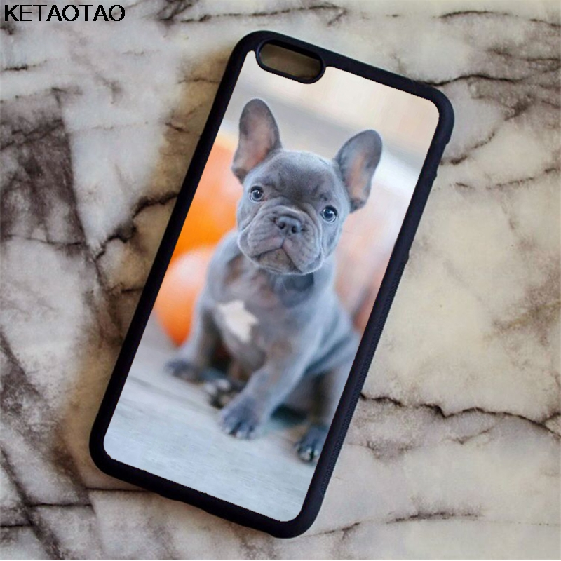 KETAOTAO Cute Funny Pug Dog French Bulldog Puppy Phone Cases for iPhone 4S 5C 5S 6S 7 8 Plus X Case Soft TPU Rubber Silicone