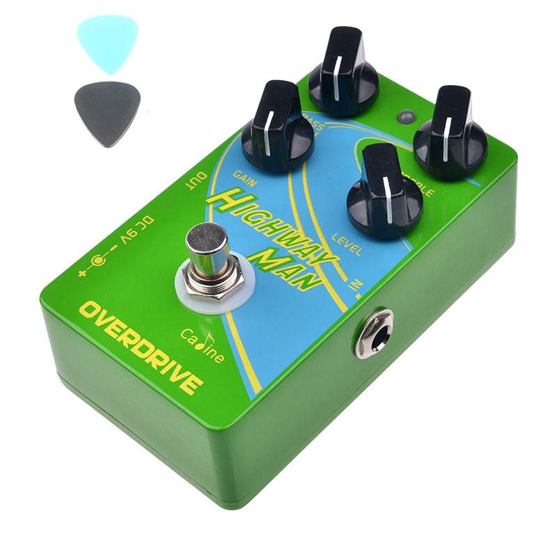 Caline CP-25 Overdrive OD Guitar Effect Pedal Green True Bypass Pedals Parts 2 band EQ Guitar Accessories overdrive guitar effect pedal true bypass with 1590b green case electric guitar stompbox pedals od1 kits
