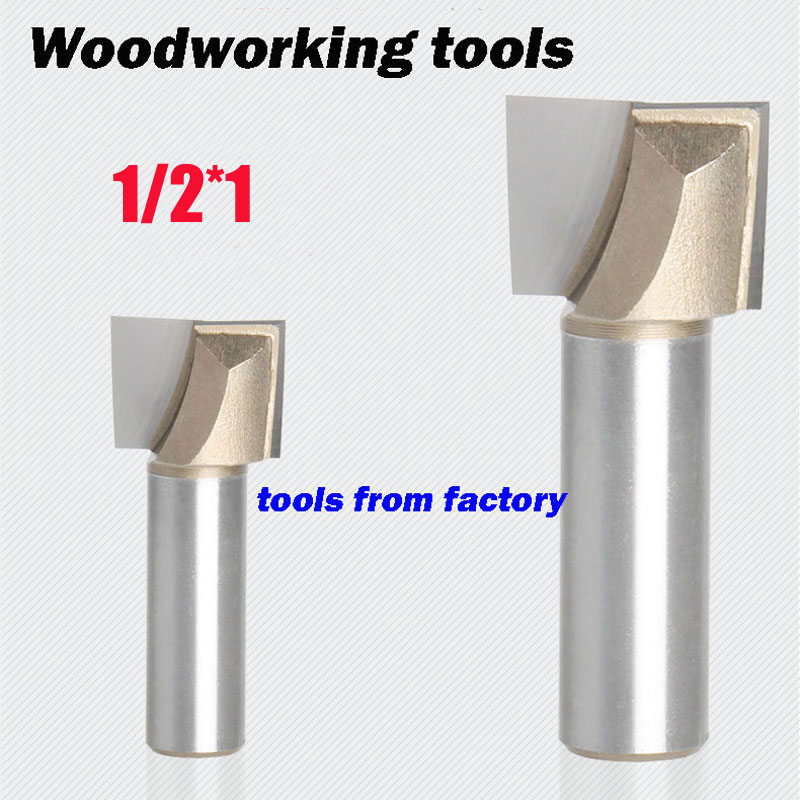 1pc wooden router bits 1/2*1 CNC woodworking milling cutter woodwork carving tool 1pc wooden router bits 1 2 5 8 cnc woodworking milling cutter woodwork carving tool