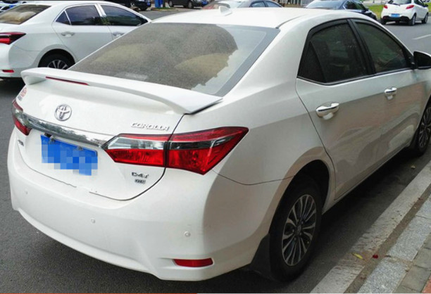 For <font><b>toyota</b></font> <font><b>corolla</b></font> 2014 to 2018 high quality ABS material <font><b>spoiler</b></font> by Primer Color image