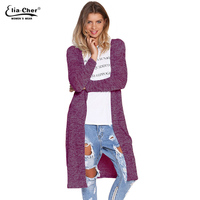 Cardigan Open Stitch Women Sweater 2015 Slim Lady Winter Long Knitted Cardigans Tops Brand Plus Size