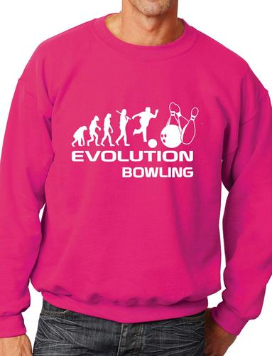 Evolution Of Ten pin Bowling Bowlers  Gift Unisex Sweatshirt Jumper  Size S-XXL