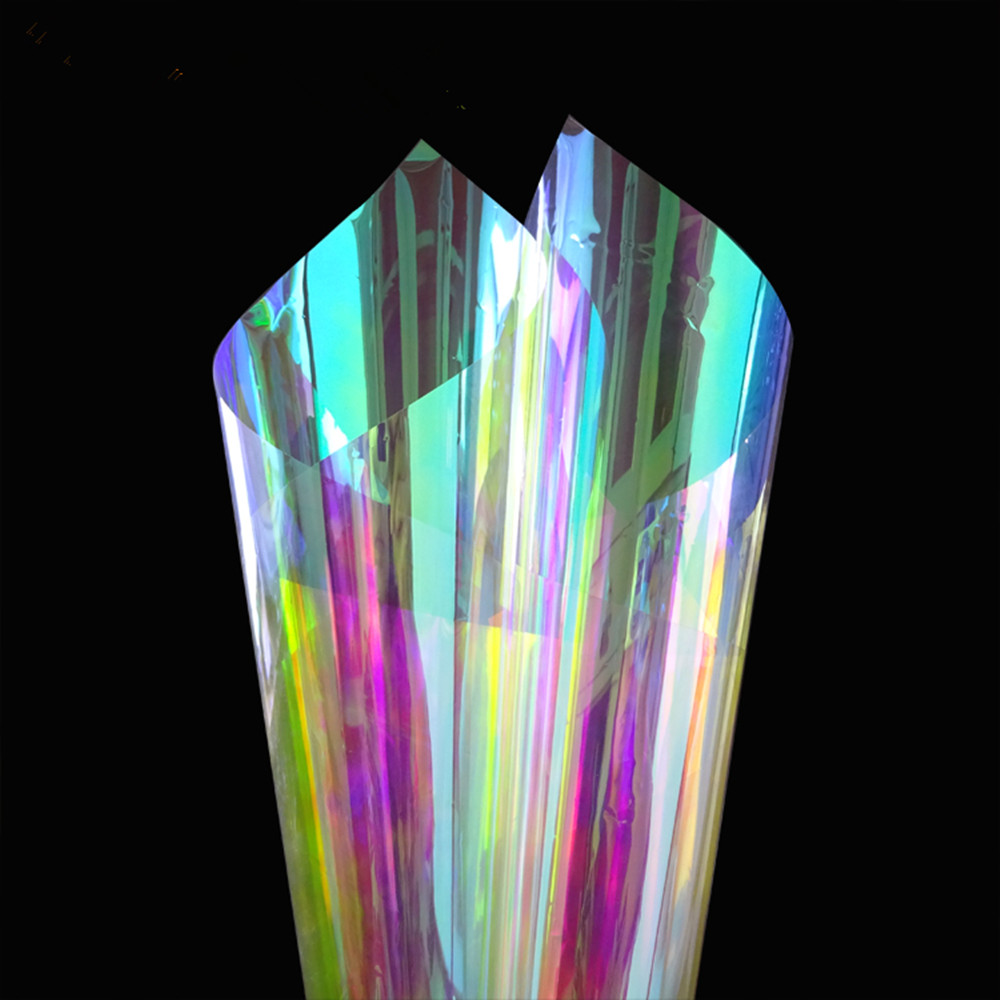 60 cm x 210 cm Effet Arc En Ciel Changeant de Couleur Aclylic Autocollant film pour vitre verre décoratif Autocollant