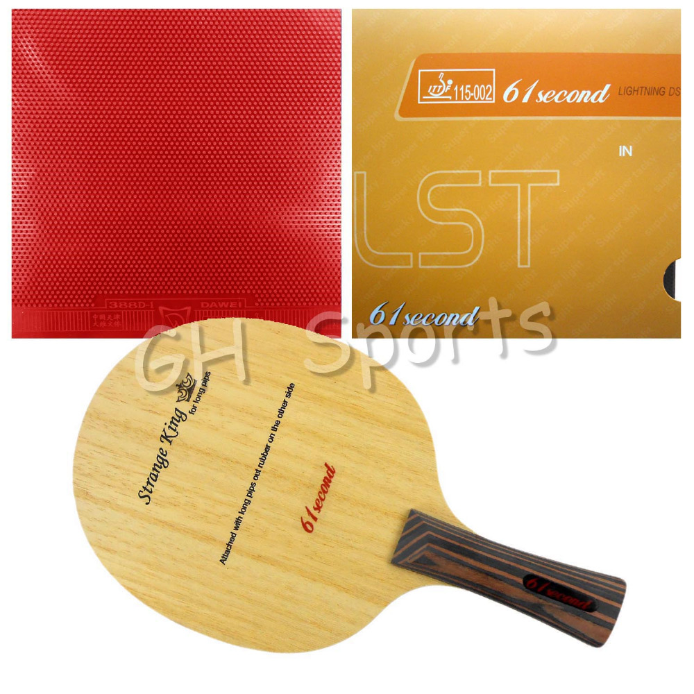 ФОТО Pro Table Tennis PingPong Combo Racket 61second Strange King with Lightning DS LST and Dawei 388D-1