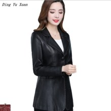 Plus Size Faux Leather Short Jacket Coat Women Slim Fit Pu Leather Oversize Blazer Black Red Spring Autumn Blazer Mujer 5XL 6XL