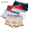 5 Pcs/lot Soft Organic Cotton Kids Boys Underwear Pure Color Children's Boxer For Boy Shorts Panties Teenage Underwear 2-16y