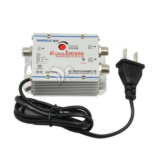 SB 8620D6 2 way CATV Signal Amplifer Sat Cable TV Signal Amplifier ...
