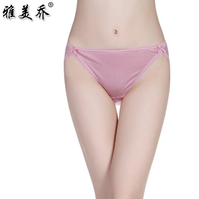 a0afc8d15c3d Mulberry silk washita river women's underwear women's sexy silk panties  female silk mid waist briefs