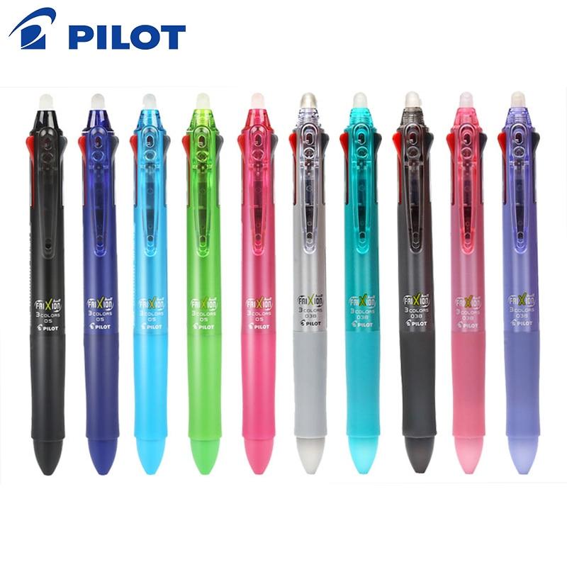 Japan Pilot Frixion Pen 3 in 1 Erasable Gel Pen Multi Colors 0.5 mm LKFB-60EF 0.38 mm LKFB-60UF Pastel Colors Japan цены